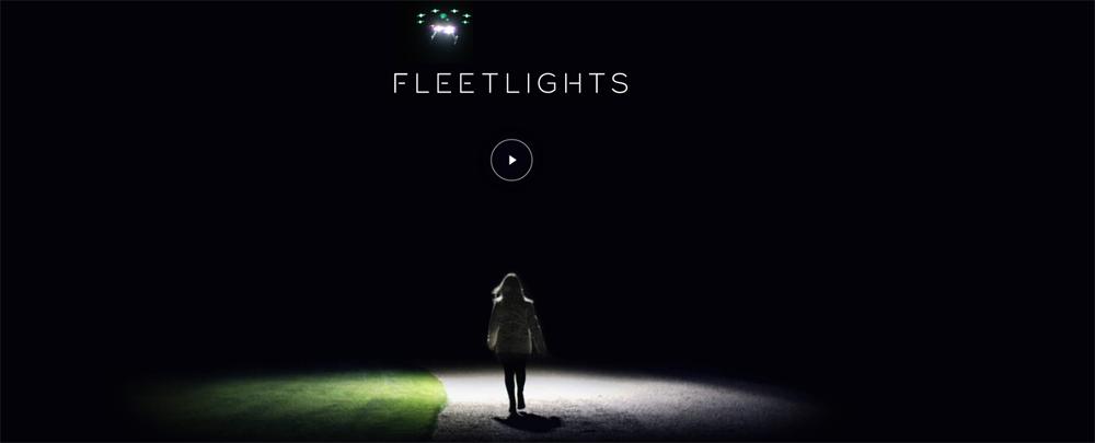 Des drôles de lampadaires, oups des drones lampadaires!