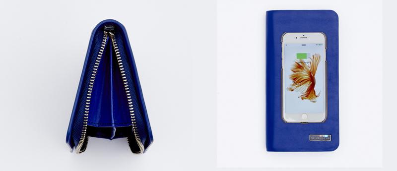 Un portefeuille qui recharge le smartphone de Madame